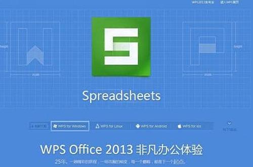 WPS Office 2013抢鲜版采用Win8扁