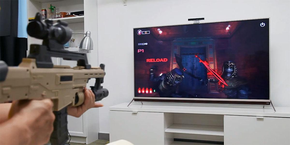 HDR电视玩HDR游戏!创维G7体验体感射击