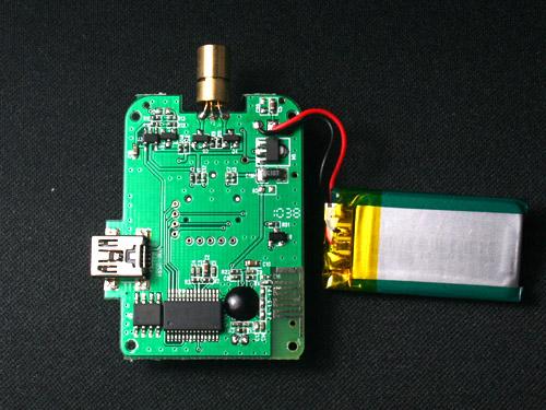 s001空中无线鼠标电路板正反面