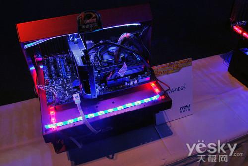 炫酷DIY展台和主板展示墙成为Intel盛典亮点