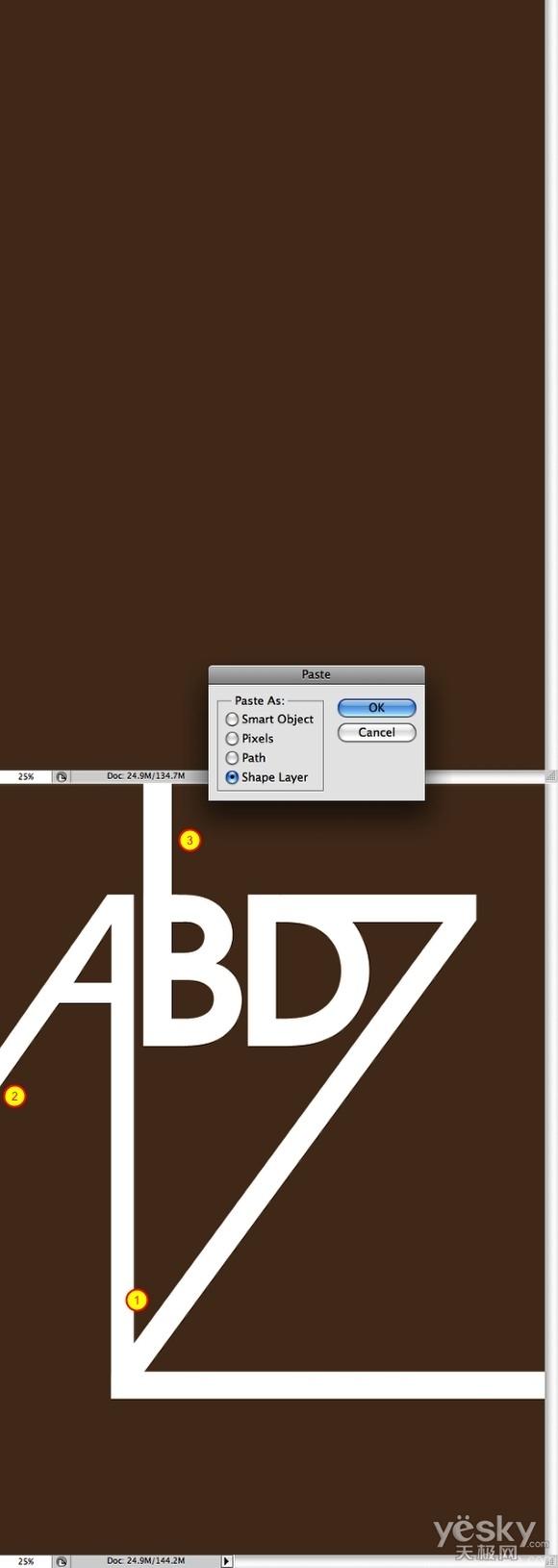 Photoshop和AI设计超酷复古风格字母海报_步骤__3