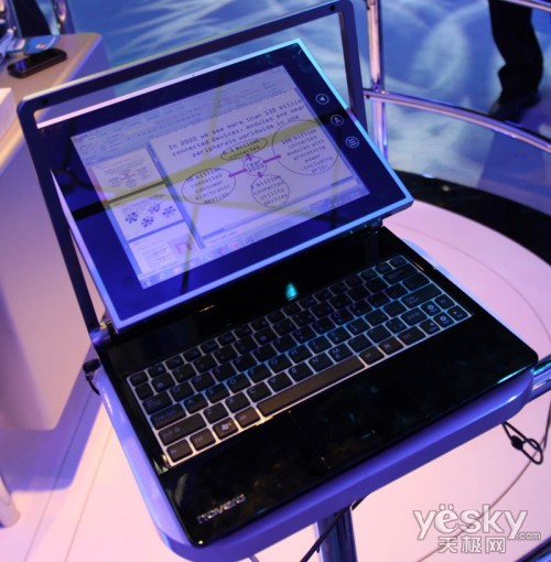 上网本变身平板!CES展示可翻转触控屏上网本