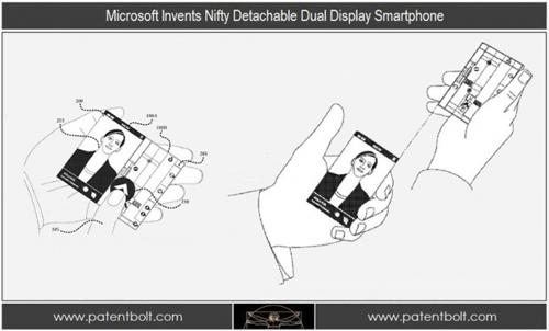 Windows Phone或具备双屏 微软新专利曝光