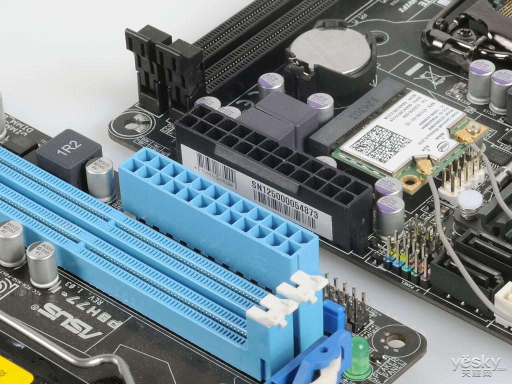 而且并没有配备华硕一贯的简易接线插座