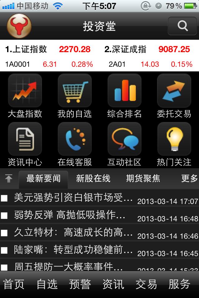 投资堂免费手机炒股票软件 for iphone截图4