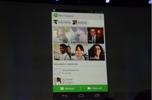 全新的理念 谷歌推出视频群聊系统Hangouts