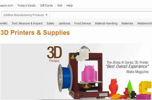 3D打印机与配件专营店入驻电商平台:亚马逊