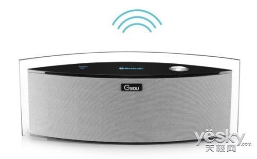 1声道音箱,采用一体式弧形设计,外观造型酷似鱼形,操控简便,功能多样.图片