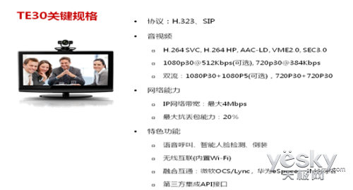 华为一体化高清视频会议终端TE30