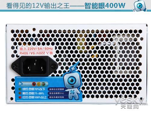 保持最佳输出  智能眼400W首创PC负载监控