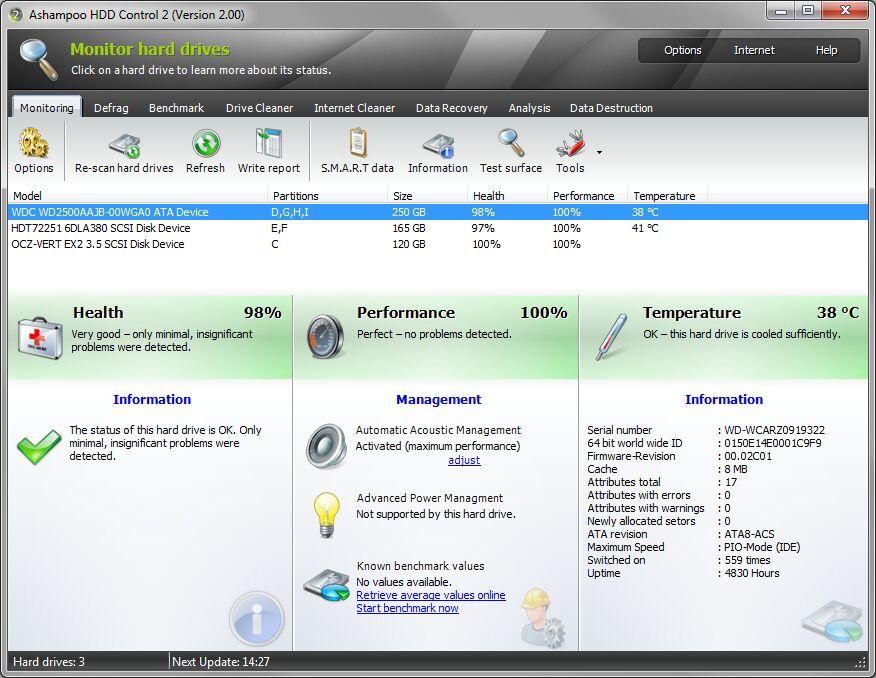 Ashampoo HDD Control截图1