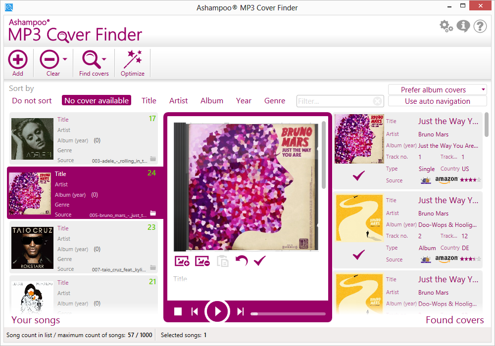 Ashampoo MP3 Cover Finder截图1