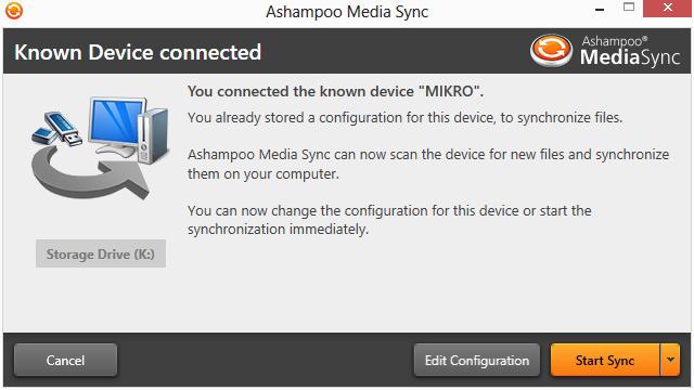 Ashampoo Media Sync截图2