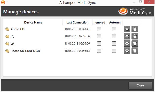 Ashampoo Media Sync截图3