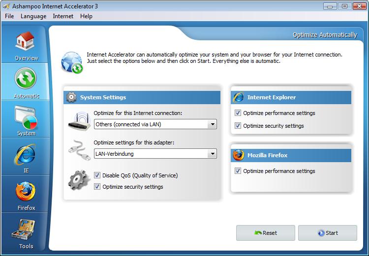 Ashampoo Internet Accelerator 3截图2