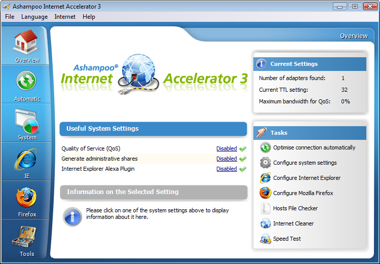 Ashampoo Internet Accelerator 3截图1