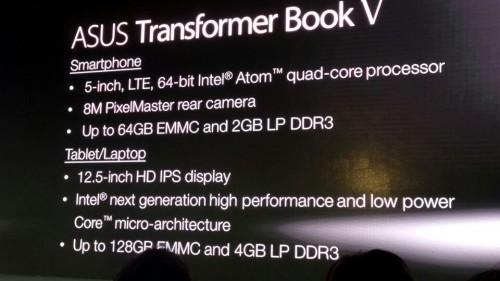 五合一!华硕TransformerBook V现场解析