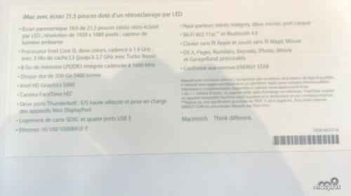 21.5英寸的低端iMac 售价不低端7899元起