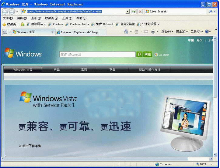 (IE7)Internet Explorer 7截图1