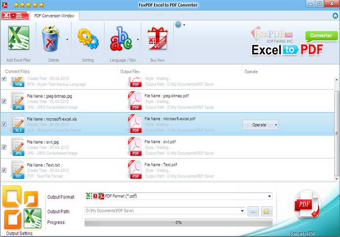 Excel转换成PDF转换器截图1