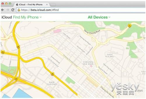 苹果iPhone查找应用网页版弃用谷歌地图