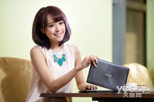 美女图秀:会玩变形诱惑的华硕T100TA平板PC