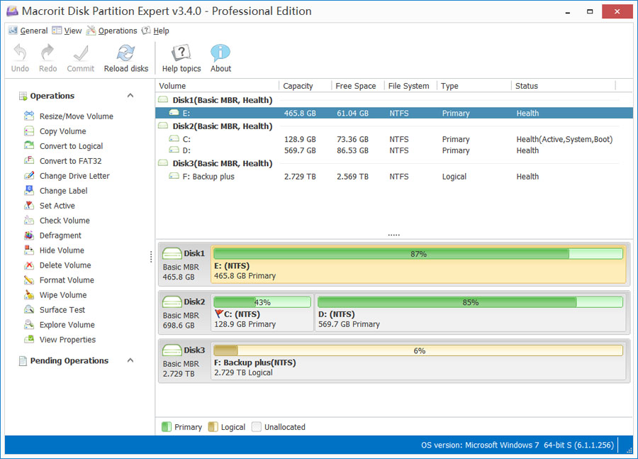Macrorit Disk Partition Expert Pro截图1