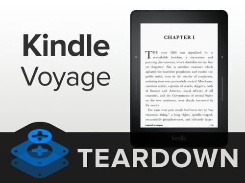 维修难度超低 亚马逊Kindle Voyage暴力拆解