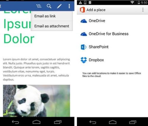 安卓版Office获升级 可直接编辑Dropbox文件