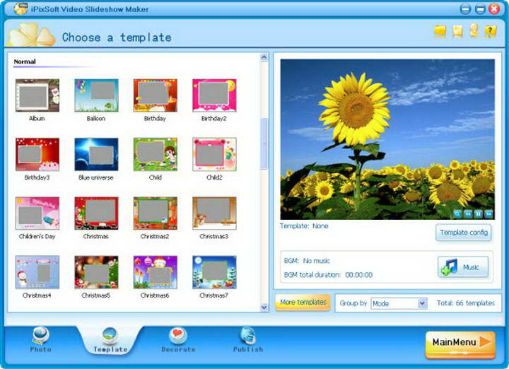 iPixSoft Video Slideshow Maker截图1