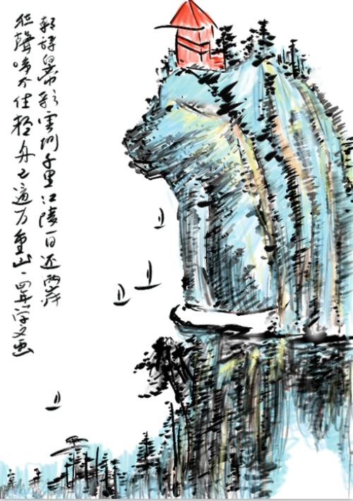 """牛人在平板电脑上绘出齐白石""""虾趣""""作品"""