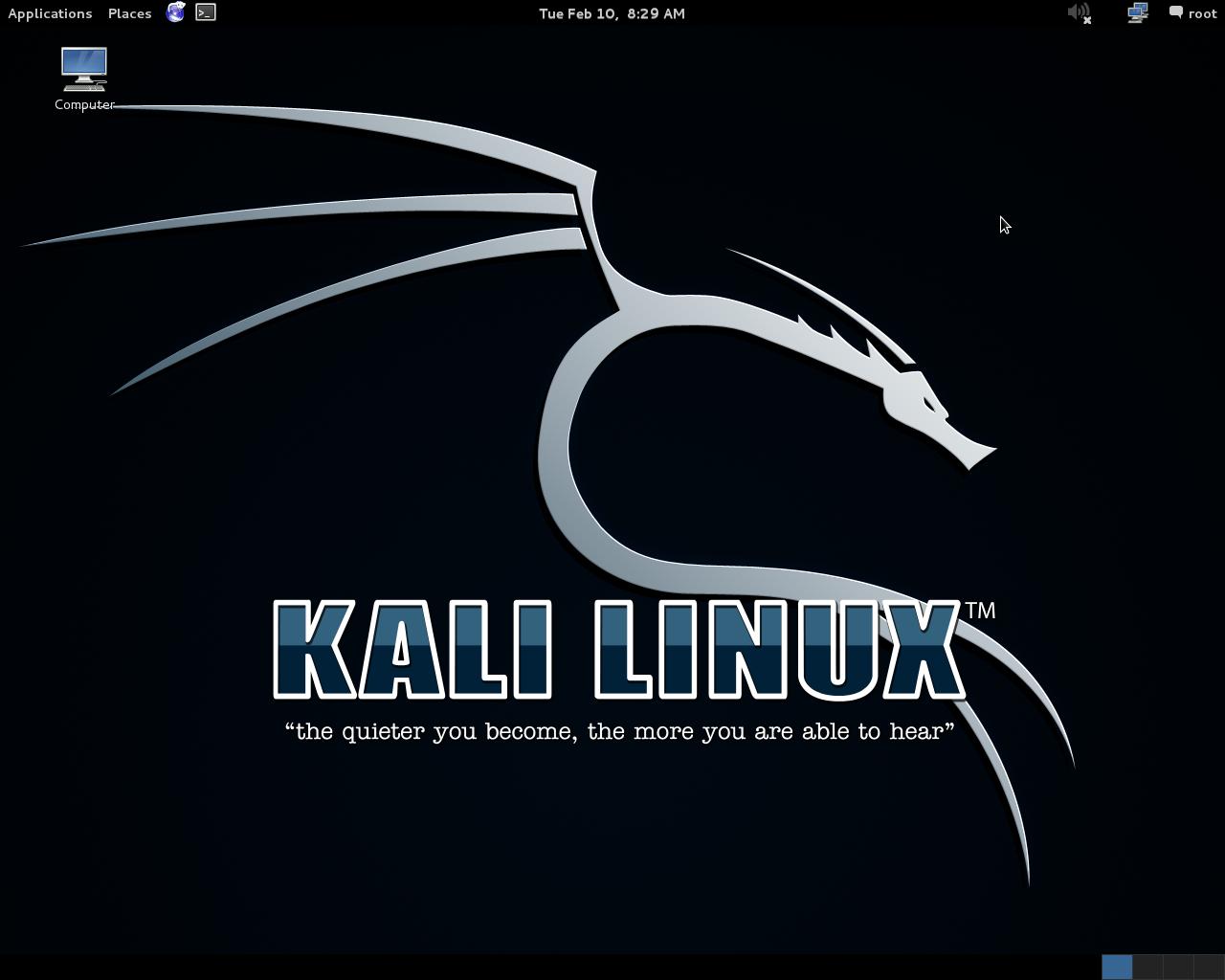 Kali Linux 32位截图1