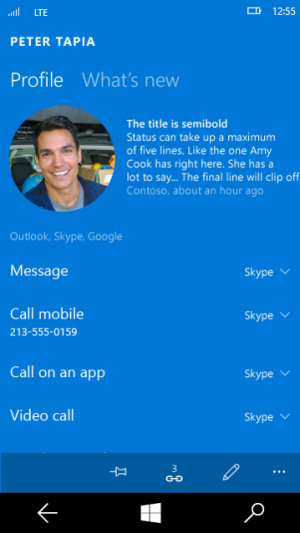 Win10手机版新功能:可设置默认通话应用