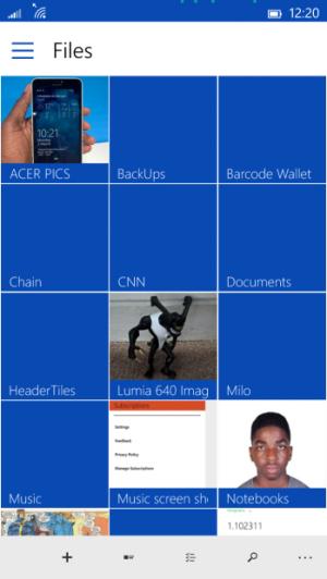 Win10手机通用版OneDrive应用亮相