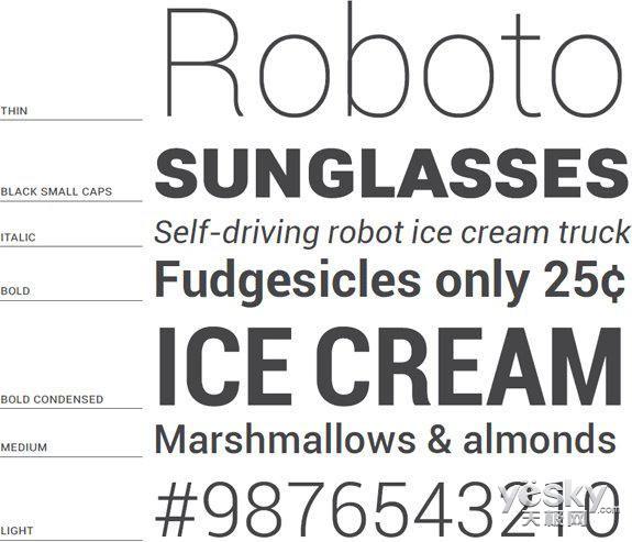 Google宣布将完全开源Android字体Roboto