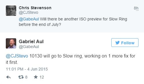 微软将推送Win10预览版10130慢速更新