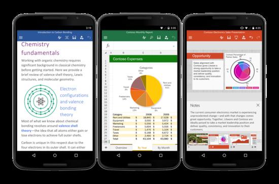 微软正式发布安卓手机版Office应用
