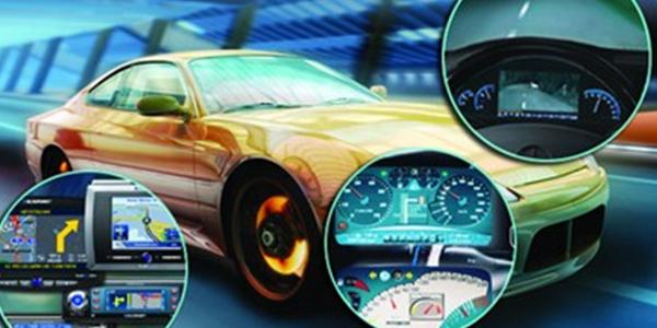 未来的汽车将配备一个车载计算机、gps定位仪和无线收发装置高清图片