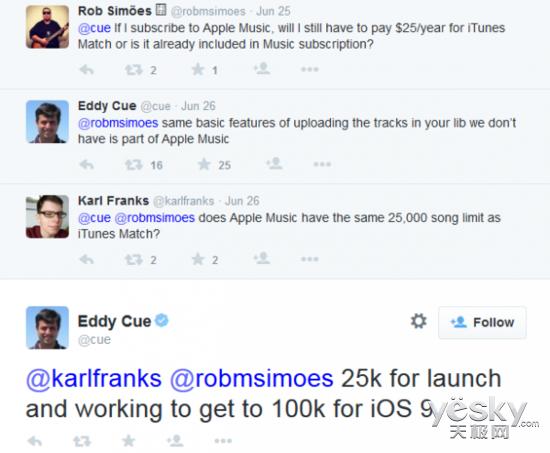苹果iCloud可存10万首 AppleMusic用户适用