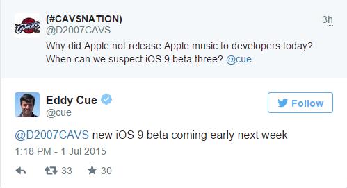 iOS 9测试版新版下周到来 支持Apple Music