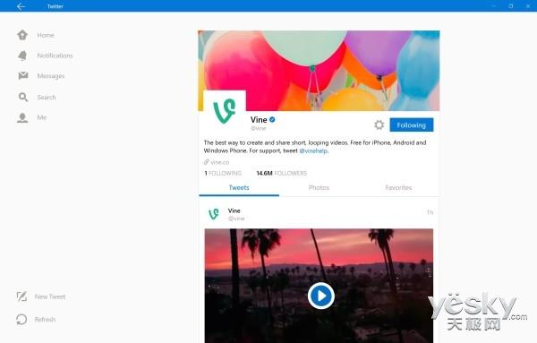 Win10通用版Twitter应用更新 可上传GIF图片