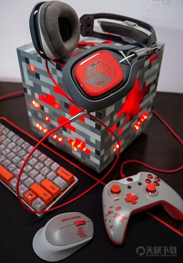 《我的世界》玩家真爱Win10 自制Redstone主题电脑