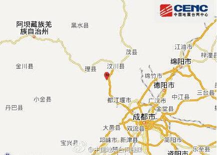 四川汶川县发生3.1级地震 震源深度17千米图片