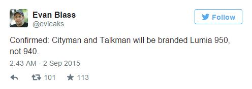 Lumia新旗舰或定名为Lumia 950 XL/950