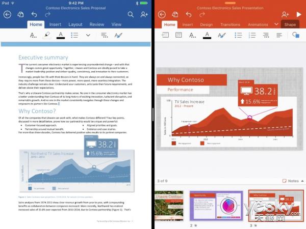 微软详解Office更新内容 适配iOS9等平台