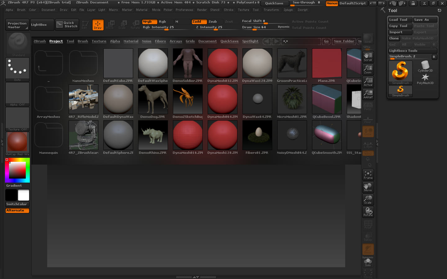 ZBrush 4R7 for mac截图3