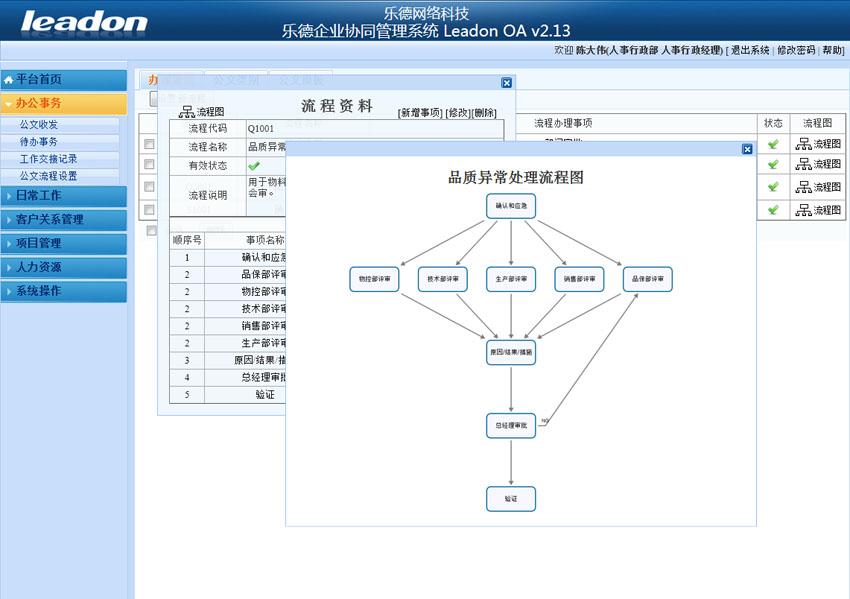 乐德企业协同管理OA系统截图2