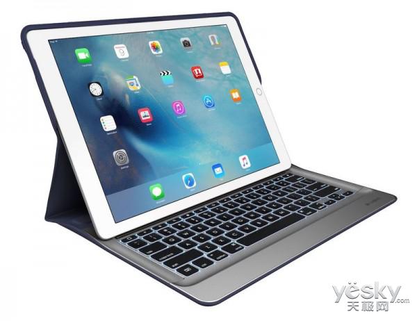 罗技推iPad Pro专用配件 包括Creat背光键盘