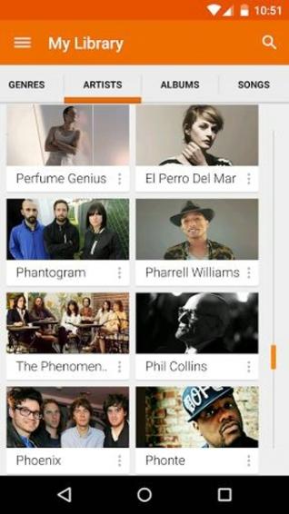 谷歌音乐播放器(Google Play Music)截图1