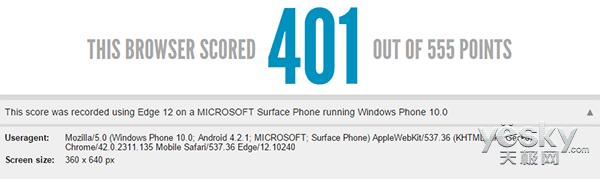微软Surface Phone现身跑分网站HTML5Test